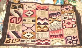 VTG SOUTHWEST MEXICO WOVEN PONY MEXICAN ZAPOTEC WOOL RUGS FRINGE RUNNER ... - $597.99