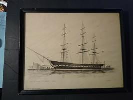 U.S.F. Constitution ( Old Ironside) Boston,  Original Drawing - $292.05
