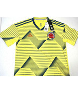 $130 NWT SMALL MEN Adidas CLIMACHILL Columbia Jersey Yellow Soccer Futbo... - $39.59