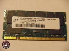 "Apple Power Book G4 17"" Micron 512MB PC2700S Ram Memory MT16VDDF6464HG-335G2 - $13.85"
