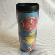 Starbucks 16 oz Barista Travel Mug with Lid 2001 Tropical Fish Summer Ocean - $14.99