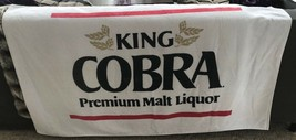 1985 KING COBRA MALT LIQUOR BEER / BAR MANCAVE BEACH TOWEL SIGN VTG RARE... - $38.70