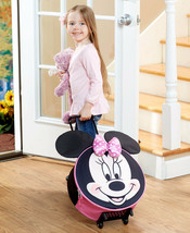 DISNEY ROLLING LUGGAGE SUITCASE MICKEY or MINNIE MOUSE or FROZEN or TOY ... - $12.41+
