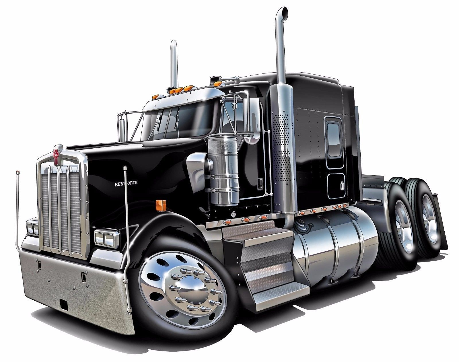 Kenworth W900 Diesel Semi Trucks Big Riggs Wall Decal ...