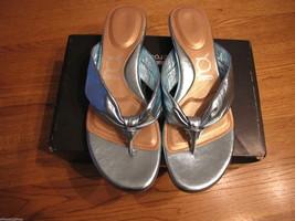 You by Crocs Tress Aqua Sandals Flip Flops Thong 7.5 7 1/2 Women's Junio... - $16.69