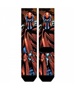Magneto X-Men Sublimated Crew Socks New Men's Size 10-13 Marvel Comics F... - $9.95