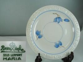 Rosenthal Maria 3473 Blue Floral Large Saucer - $12.86