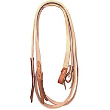 New Tan Flat Cotton Webbing Snaffle Bit Work Split Reins with Poppers 7.... - $59.99