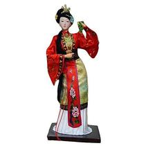 PANDA SUPERSTORE Traditional Chinese Art Silk Figurine Doll Statue Chinese Doll-