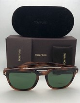New TOM FORD Sunglasses HOLT TF 516 53N 54-19 145 Tortoise & Gold w/Green Lenses image 2