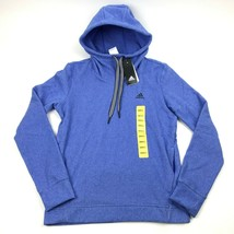 New Women's ADIDAS Trans Hoodie Small Heather Blue Pullover ClimaWarm Hoody - $26.93