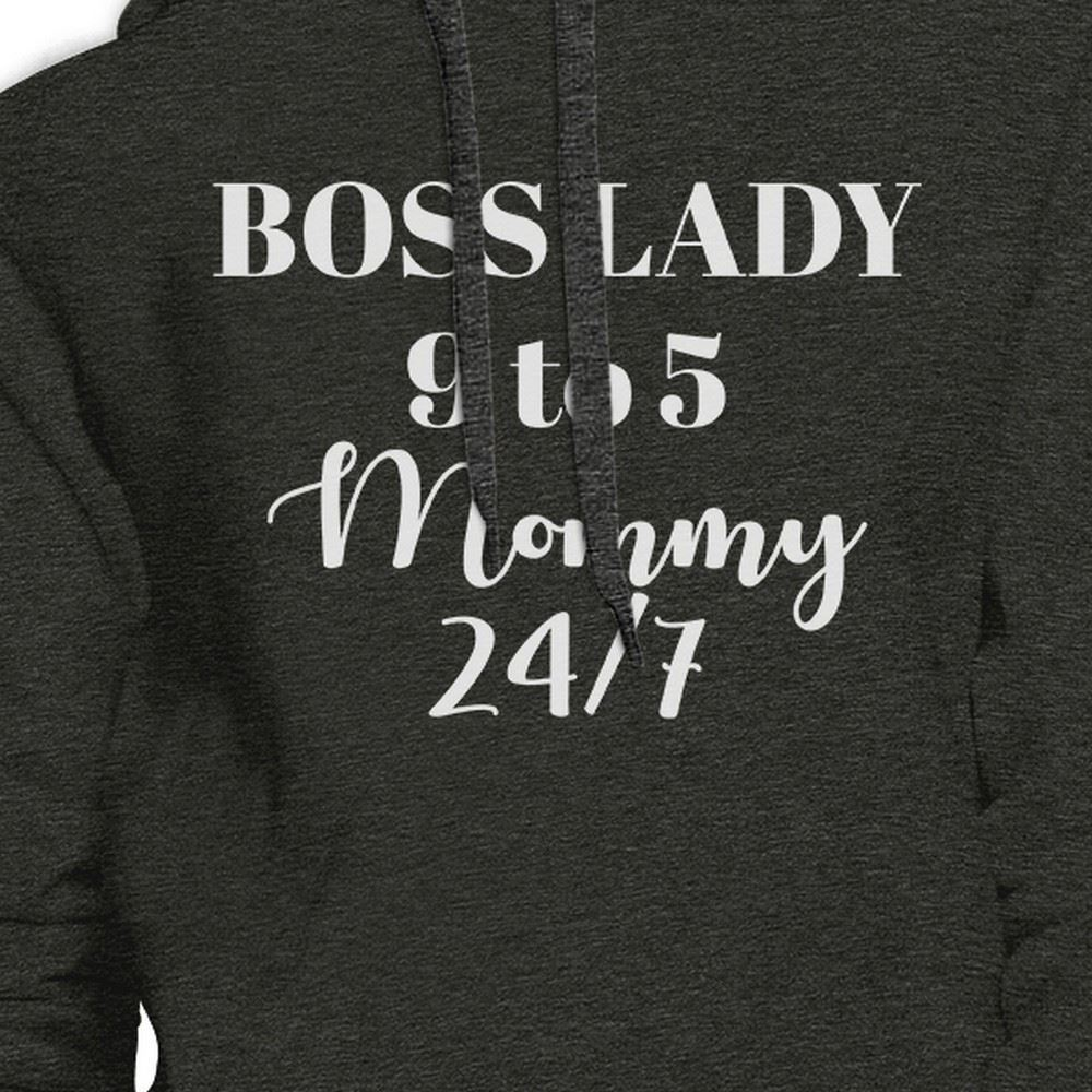 Boss Lady Mommy Dark Gray Unisex Graphic Hoodie Gift For Bossy Moms