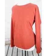 Patagonia Raglan Long Sleeve Top Women's L Large Rust Red Crew Neck Shirt - $37.62