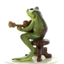 Hagen Renaker Miniature Frog Froggy Mountain Breakdown Mandolin Ceramic Figurine image 5