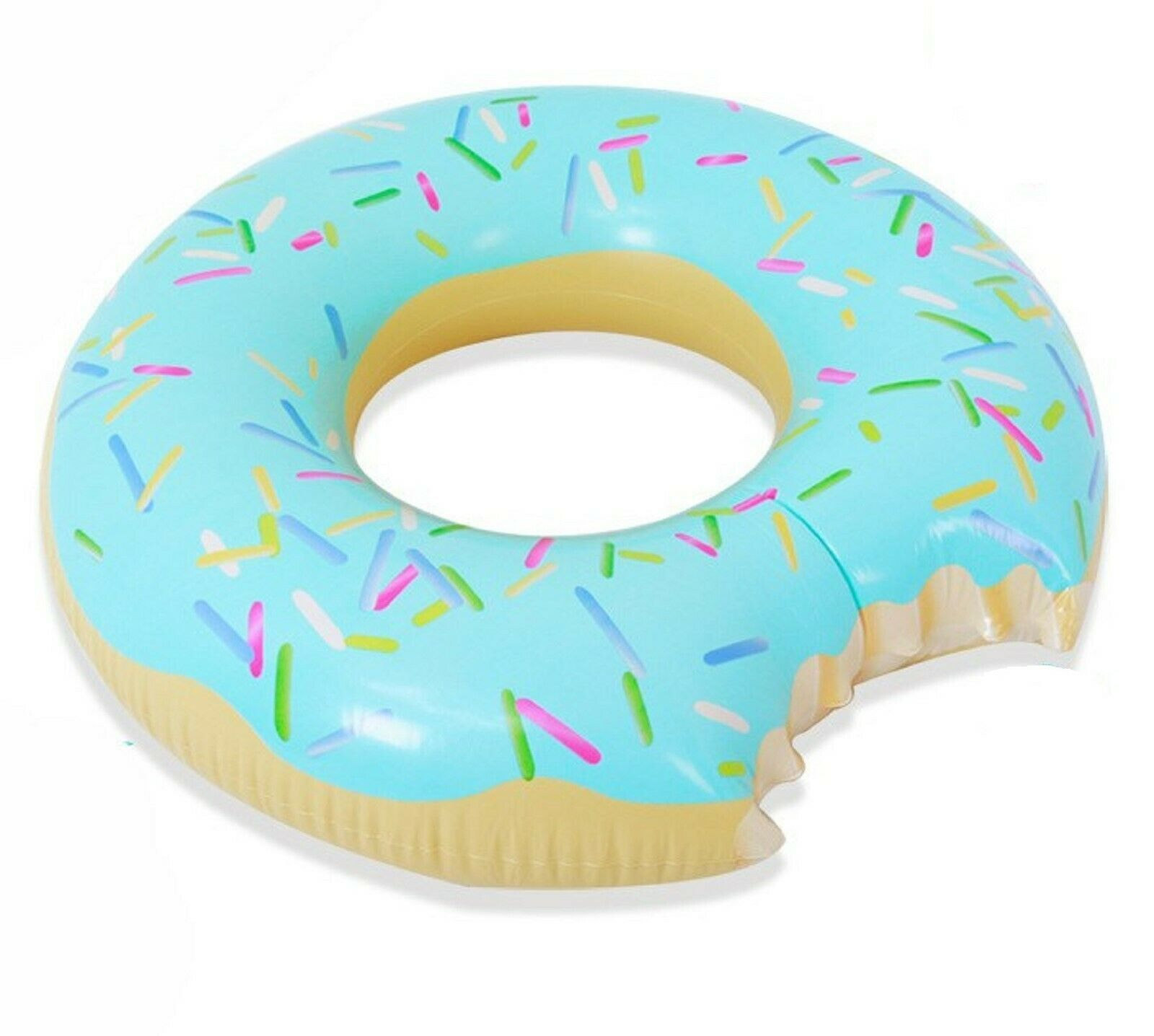 Swim About Large Donut Swim Ring Tube Pool Inflatable Floats for Adults (Mint)