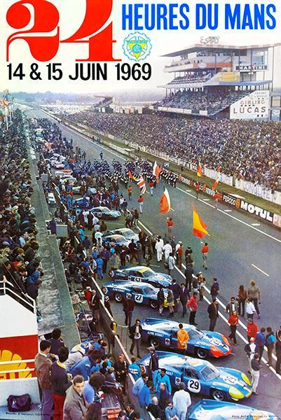 Primary image for 1969 24 Hours Of Le Mans - Promotional Advertising Poster