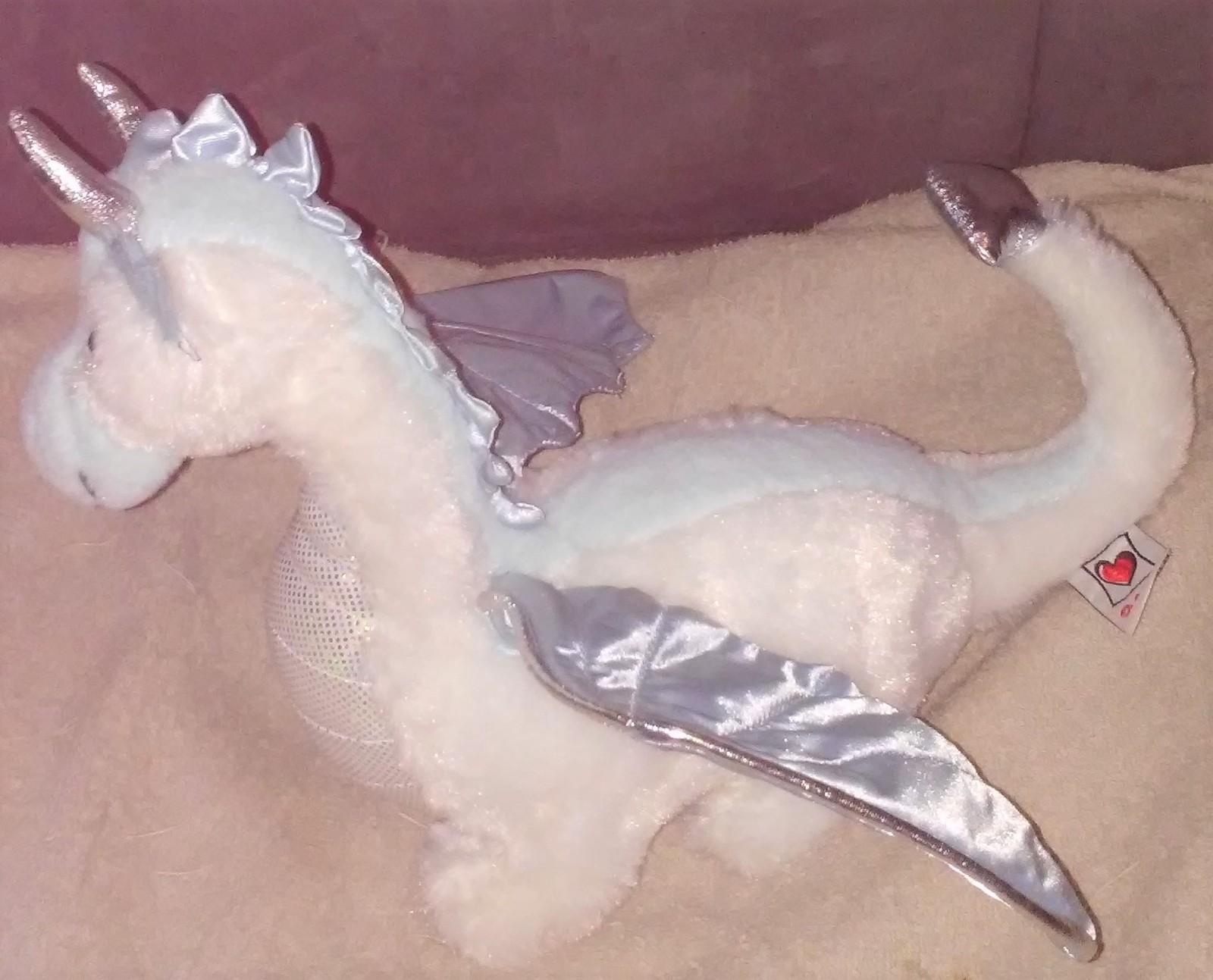 Webkinz ice dragon plush sideview