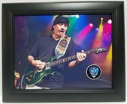 Carlos Santana custom framed guitar pick display J1 - $75.95