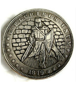 Hobo Nickel 1879 Morgan Dollar Templar Knight Crusade Medivel Casted Coin - $12.70 CAD