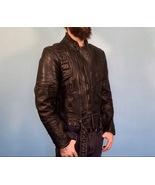 Black Genuine Leather Motorcycle Jacket - Wilson, Size 42 - $194.95