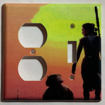 Star Wars BB8 & Rey Light Switch Power Outlet wall Cover Plate Home decor image 5