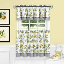 Achim Home Furnishings LDTV36YL12 Lemon Drop Tier and Valance Window Cur... - $33.17+