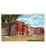 High School Jacksonville Illinois 1939 postcard - $6.44