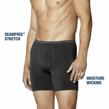 Men's Life By Jockey Long leg Boxer Brief Black/Blue Size M/XL Seam Free... - $19.95