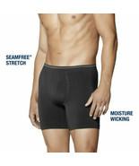 Men's Life By Jockey Long leg Boxer Brief Black/Blue Size M/XL Seam Free... - $15.99