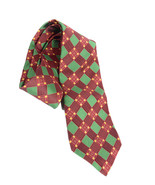 NWT Authentic Robert Talbott Red/Green Festive Holiday Check 100% Silk N... - $84.15