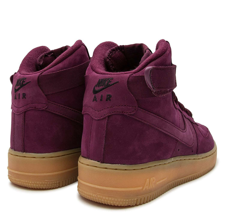 Nike Air Force 1 High WB Casual Bordeaux/Gum Grade School Shoes 922066 600