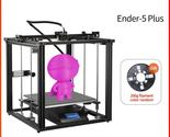 CREALITY 3D Printer Ender-5 Plus Dual Y-axis Motors Glass Build Plate Power off  - $791.99