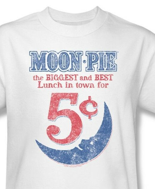 Moon Pie T-shirt Free Shippin vintage style distressed graphic cotton tee MPI108