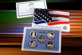 2010 S  America The Beautiful US Mint 5 Quarters Proof Set First In Series