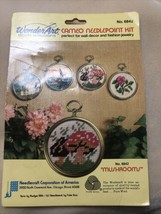 NEW WonderArt Needlepoint Picture Kit #6842 Mushrooms - $29.69