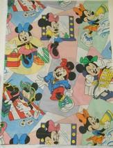 "Disney Minnie Mouse Vtg Pacific Twin Bed Sheet Beach Shopping Teen Life 67X92"" - $44.95"