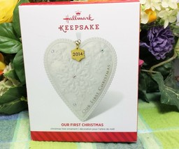 Hallmark Our First Christmas TOgether 2014 Snowflake Heart - $9.85