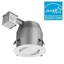 Lithonia Lighting 5in Matte White Recessed Gimbal Integrated LED Lighting Kit H2 - $12.19