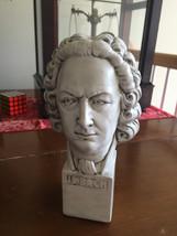 Johann Sebastian Bach Vintage plaster Figure Bust plaster - $95.00