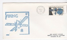 VIKING A KSC RUBBER STAMP CACHET KENNEDY SPACE CTR, FLORIDA AUGUST 20 1975 - $1.98