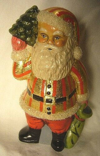 Vaillanourt Folk Art American Santa with Red and Gold Stripes signed by Judi!