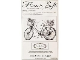Flower Soft Country Bike Unmounted Rubber Stamps, Set of 2 #0510002STCB