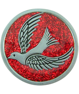 CONFIRMATION RED SPARKLE POCKET TOKEN WITH HOLY DOVE - $17.33