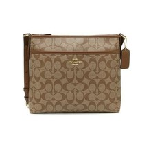 Coach FIle F29210 Crossbody Bag - Khaki Saddle NWT - $73.25