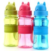 300ml Kids Water Bottle Portable Plastic Shaker with Lid Straw for Schoo... - $246,47 MXN