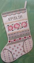 Creative Circle Counted Cross Stitch Victorian Christmas Stocking Kit 11... - $18.99