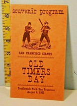1962 San Francisco Giants Old Timers Game Program Candlestick Park  - $38.61
