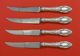 King Richard by Towle Sterling Silver Steak Knife Set 4pc Serrated Custo... - $286.11