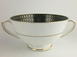 Coalport Chateau Green Cream soup bowl  - $25.00