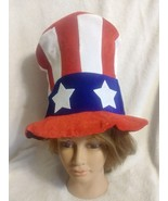 Stars and Stripes Uncle Sam USA Patriot hat Costume Dress Up July EASY FOLD - $15.00